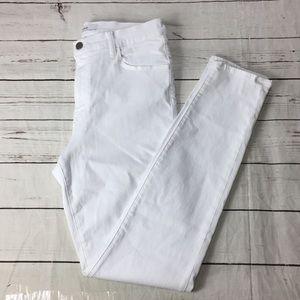 J brand Maria high rise skinny size 31 white